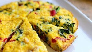 Healthy vegetable frittata recipe baked in 20min Quick Keto Breakfast