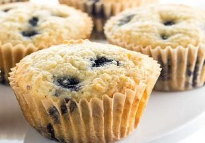 This is about quick keto breakfast, easy almond flour blueberry muffins
