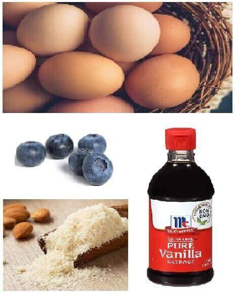 This is ingredients quick keto breakfast, easy almond flour blueberry muffins